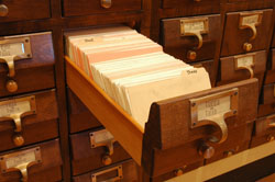 Picture of card catalog